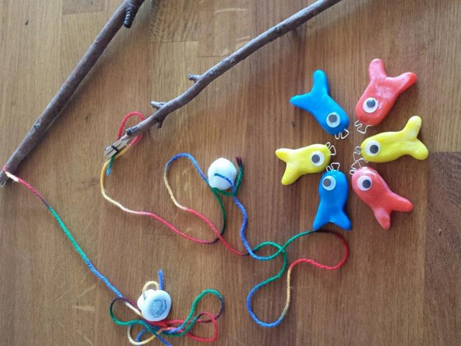 Toy fishing set plastimake for Fishing toy set