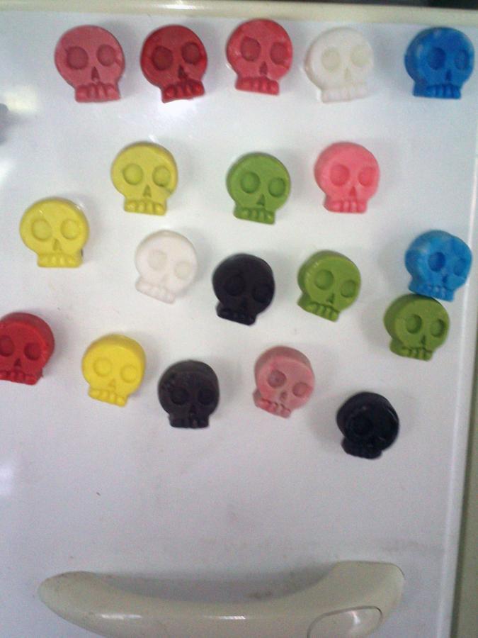 Skull Fridge Magnets Plastimake