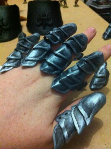 Costume armoured gloves