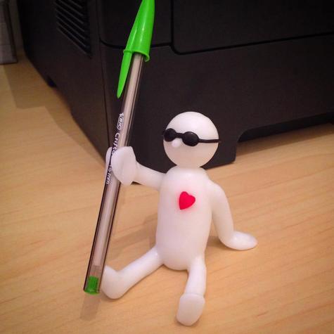 Friendly pen holder