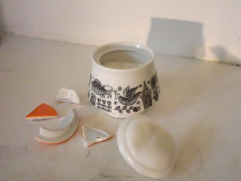 Sugar pot lid
