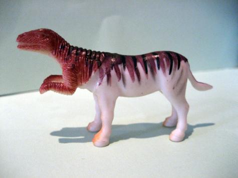 Hybrid toy: Raptor-Zebra